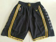 Wholesale Cheap Men Nike Los Angeles Lakers Black NBA Swingman City Edition Shorts