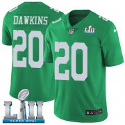 Wholesale Cheap Nike Eagles #20 Brian Dawkins Green Super Bowl LII Youth Stitched NFL Limited Rush Jersey
