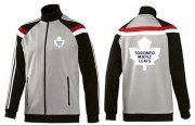Wholesale Cheap NHL Toronto Maple Leafs Zip Jackets Grey