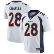 Wholesale Cheap Nike Broncos #28 Jamaal Charles White Men's Stitched NFL Vapor Untouchable Limited Jersey