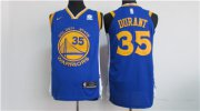 Wholesale Cheap Nike Golden State Warriors #35 Kevin Durant Blue 2017-2018 Stitched NBA Jersey