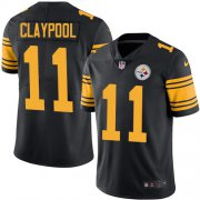 Wholesale Cheap Nike Steelers #11 Chase Claypool Black Men's Stitched NFL Limited Rush Jersey