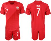 Wholesale Cheap Poland #7 Milik Away Soccer Country Jersey