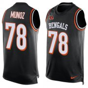 Wholesale Cheap Nike Bengals #78 Anthony Munoz Black Team Color Men's Stitched NFL Limited Tank Top Jersey