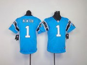 Wholesale Cheap Nike Panthers #1 Cam Newton Blue Alternate Youth Stitched NFL Elite Jersey