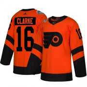 Wholesale Cheap Adidas Flyers #16 Bobby Clarke Orange Authentic 2019 Stadium Series Stitched Youth NHL Jersey