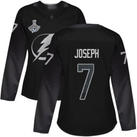 Cheap Adidas Lightning #7 Mathieu Joseph Black Alternate Authentic Women\'s 2020 Stanley Cup Champions Stitched NHL Jersey