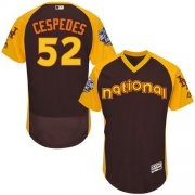 Wholesale Mets #52 Yoenis Cespedes Brown Flexbase Authentic Collection 2016 All-Star National League Stitched Baseball Jersey