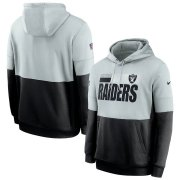 Wholesale Cheap Las Vegas Raiders Nike Sideline Impact Lockup Performance Pullover Hoodie Silver Black