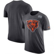 Wholesale Cheap NFL Men's Chicago Bears Nike Anthracite Crucial Catch Tri-Blend Performance T-Shirt