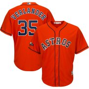 Wholesale Cheap Houston Astros #35 Justin Verlander Majestic 2019 Postseason Official Cool Base Player Jersey Orange