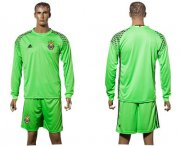 Wholesale Cheap Ukraine Blank Green Goalkeeper Long Sleeves Soccer Country Jersey