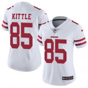 Wholesale Cheap Nike 49ers #85 George Kittle White Women's Stitched NFL Vapor Untouchable Limited Jersey