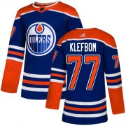 Wholesale Cheap Adidas Oilers #77 Oscar Klefbom Royal Blue Alternate Authentic Stitched NHL Jersey