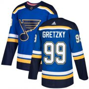 Wholesale Cheap Adidas Blues #99 Wayne Gretzky Blue Home Authentic Stitched Youth NHL Jersey