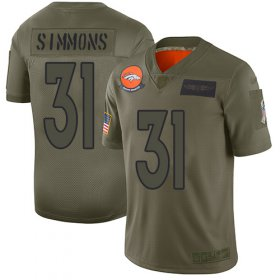 Wholesale Cheap Nike Broncos #31 Justin Simmons Camo Youth Stitched NFL Limited 2019 Salute to Service Jersey