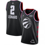Wholesale Cheap Raptors #2 Kawhi Leonard Black Basketball Jordan Swingman 2019 All-Star Game Jersey