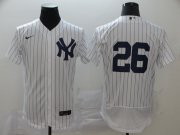 Wholesale Cheap New York Yankees #26 DJ LeMahieu Men's Nike White Navy Home 2020 Authentic Player MLB Jersey