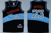 Wholesale Cheap Cleveland Cavaliers #23 LeBron James ABA Hardwood Classic Swingman Black Jersey