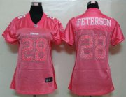 Wholesale Cheap Nike Vikings #28 Adrian Peterson Pink Sweetheart Women's NFL Game Jersey