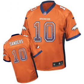 Wholesale Cheap Nike Broncos #10 Emmanuel Sanders Orange Team Color Men\'s Stitched NFL Elite Drift Fashion Jersey