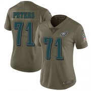 Wholesale Cheap Nike Eagles #71 Jason Peters Olive Women's Stitched NFL Limited 2017 Salute to Service Jersey