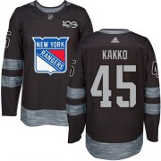 Wholesale Cheap Adidas Rangers #45 Kappo Kakko Black 1917-2017 100th Anniversary Stitched NHL Jersey