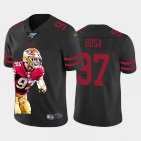 Cheap San Francisco 49ers #97 Nick Bosa Nike Team Hero 1 Vapor Limited NFL 100 Jersey Black
