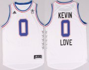 Wholesale Cheap 2015 NBA Eastern All-Stars #0 Kevin Love Revolution 30 Swingman White Jersey
