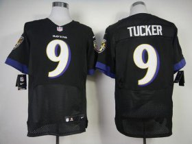 Wholesale Cheap Nike Ravens #9 Justin Tucker Black Alternate Men\'s Stitched NFL New Elite Jersey