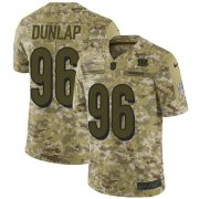 Wholesale Cheap Nike Bengals #96 Carlos Dunlap Camo Men's Stitched NFL Limited 2018 Salute To Service Jersey