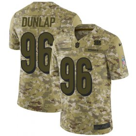 Wholesale Cheap Nike Bengals #96 Carlos Dunlap Camo Men\'s Stitched NFL Limited 2018 Salute To Service Jersey