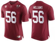 Wholesale Cheap Men's Alabama Crimson Tide #56 Tim Williams Red 2017 Championship Game Patch Stitched CFP Nike Limited Jersey