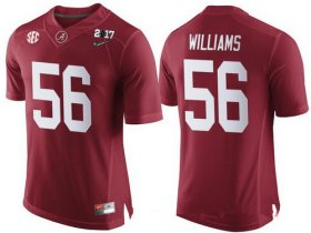 Wholesale Cheap Men\'s Alabama Crimson Tide #56 Tim Williams Red 2017 Championship Game Patch Stitched CFP Nike Limited Jersey