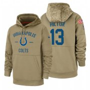 Wholesale Cheap Indianapolis Colts #13 T.Y. Hilton Nike Tan 2019 Salute To Service Name & Number Sideline Therma Pullover Hoodie