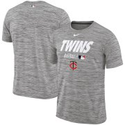Wholesale Cheap Minnesota Twins Nike Authentic Collection Velocity Team Issue Performance T-Shirt Gray