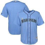 Wholesale Cheap Seattle Mariners Majestic Official Cool Base Team Jersey Blue