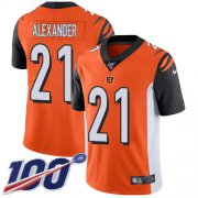 Wholesale Cheap Nike Bengals #21 Mackensie Alexander Orange Alternate Youth Stitched NFL 100th Season Vapor Untouchable Limited Jersey