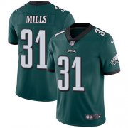 Wholesale Cheap Nike Eagles #31 Jalen Mills Midnight Green Team Color Men's Stitched NFL Vapor Untouchable Limited Jersey