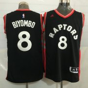 Wholesale Cheap Men's Toronto Raptors #8 Bismack Biyombo Black With Red New NBA Rev 30 Swingman Jersey