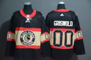 Wholesale Cheap Adidas BlackHawks Custom Men's Black Classic Retro Stitched NHL Jersey