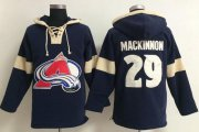 Wholesale Cheap Colorado Avalanche #29 Nathan MacKinnon Blue Pullover NHL Hoodie