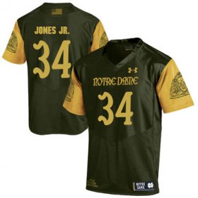 Wholesale Cheap Notre Dame Fighting Irish 34 Tony Jones Jr. Olive Green College Football Jersey