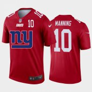 Wholesale Cheap New York Giants #10 Eli Manning Red Men's Nike Big Team Logo Player Vapor Limited NFL Jersey