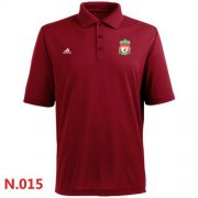 Wholesale Cheap Adidas Liverpool FC Textured Solid Performance Polo Red