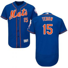 Wholesale Cheap Mets #15 Tim Tebow Blue Flexbase Authentic Collection Stitched MLB Jersey
