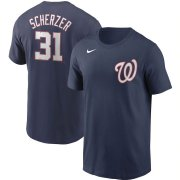 Wholesale Cheap Washington Nationals #31 Max Scherzer Nike Name & Number T-Shirt Navy