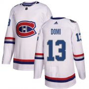 Wholesale Cheap Adidas Canadiens #13 Max Domi White Authentic 2017 100 Classic Stitched Youth NHL Jersey