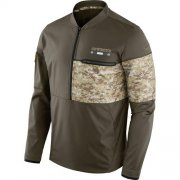 Wholesale Cheap Men's Dallas Cowboys Nike Olive Salute to Service Sideline Hybrid Half-Zip Pullover Jacket