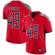 Wholesale Cheap Nike Titans #49 Nick Dzubnar Red Men's Stitched NFL Limited Inverted Legend Jersey